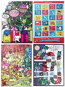 Trader Joe's 24 Chocolate Days Till Christmas Advent Calendar 2017 Set of 4
