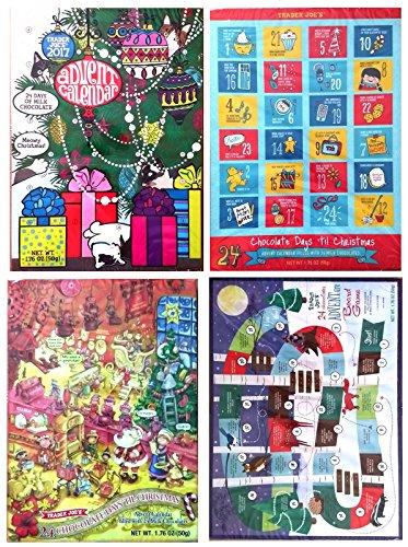 - Trader Joe's 24 Chocolate Days Till Christmas Advent Calendar 2017 Set of 4