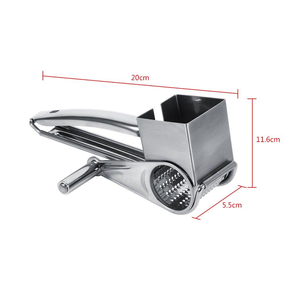 Grattugia a manovella per formaggio in acciaio INOX Multifunzione Kitchen Craft