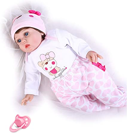 "22/"" Reborn Toddler Baby Dolls Handmade Vinyl Silicone Smile Girl Realistic Gift"