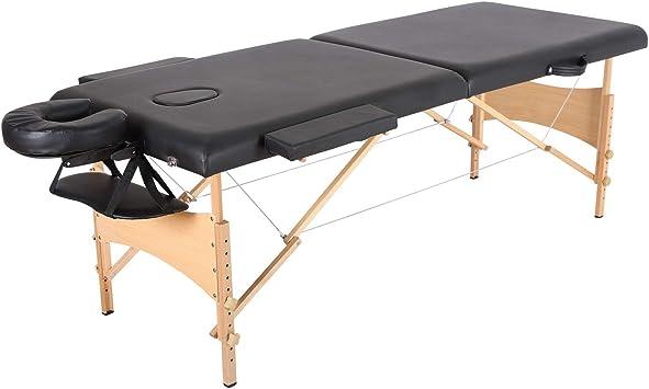 Camillas masajes plegables Mesa de masaje portátil, 2 secciones ...