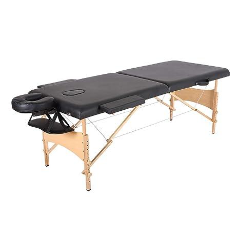 Mesa de Masaje Mesa de masaje portátil, 2 secciones, cama plegable ...