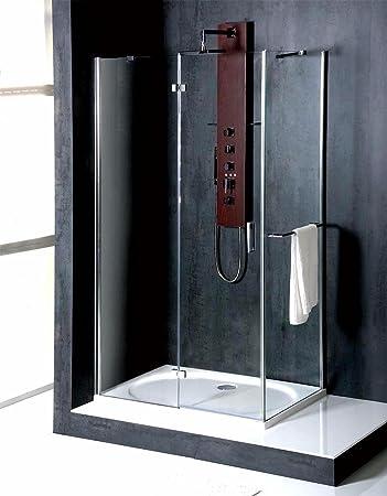 Mampara de 90 x 70 cm, 200 cm de alto, con recubrimiento de vidrio: Amazon.es: Bricolaje y herramientas