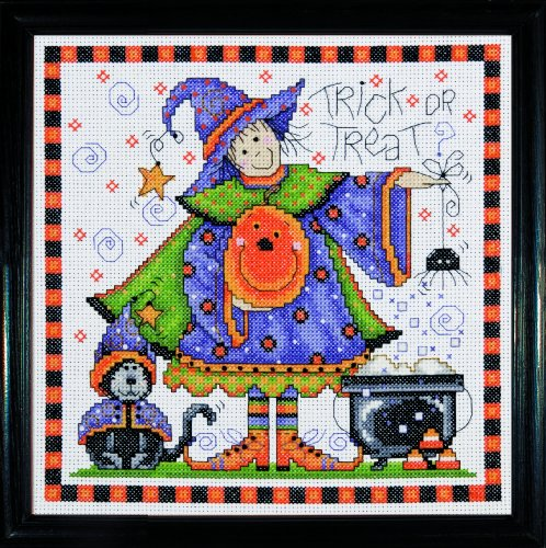 Design Works Crafts Counted Cross Stitch, Trick or Treat, 8 by 8 inches (2751)