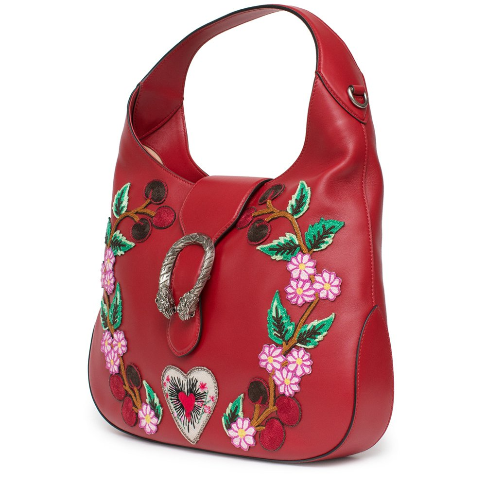 0a50ce9693 Amazon.com: Gucci Red Dionysus Embroidery Cherry Blossoms Leather ...