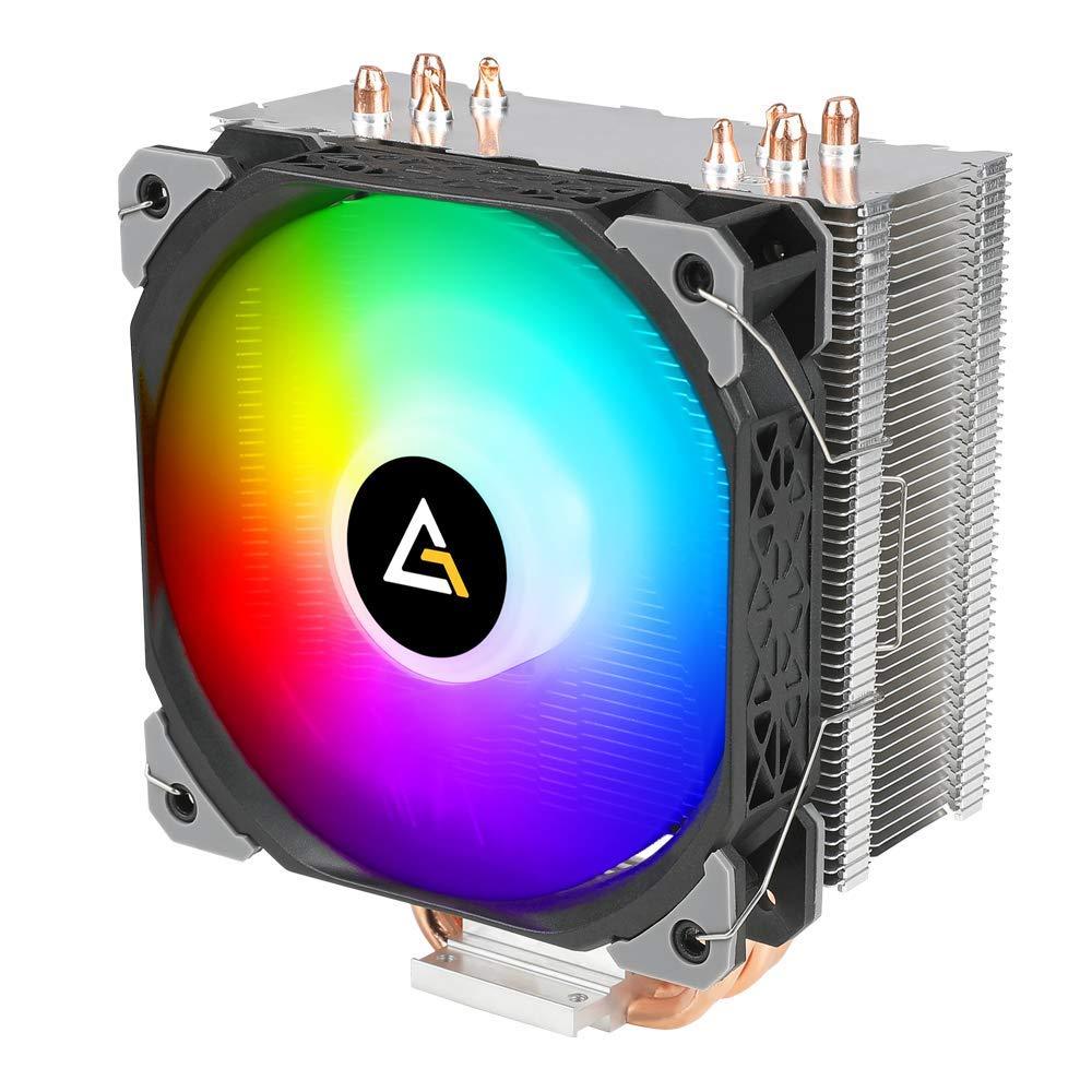 A50-SP ARGB CPU Cooler, RGB Fans, AM4 CPU Cooler 4 Heatpipes CPU Air Cooler 120mm PWM Fan Air Cooling for Intel/AMD