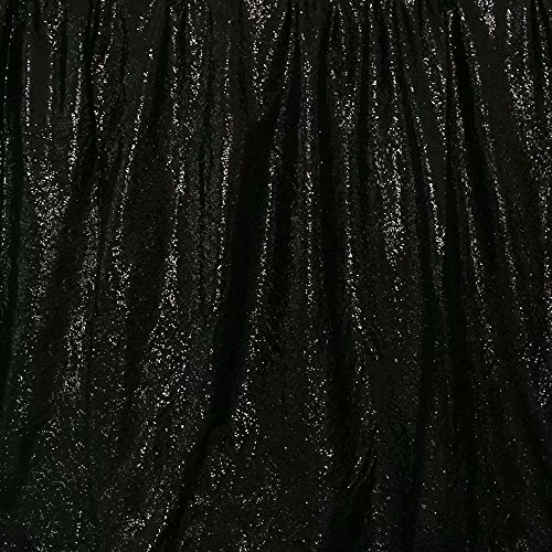 GFCC Sequin Backdrops Black Sequin Curtains Sequin Fabric for Wedding/Party/Birthday-20ftx10ft by GFCC (Image #4)