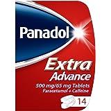 Panadol Extra Advance Paracetamol Caffeine Pain Relief, 14 Tablets