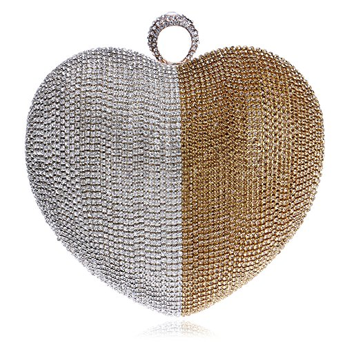 Mariage Clubs à Sac Gold À Nuptiale En Main Party Dames Cadeau Pour Coeur De à Sac Diamante De Perlé Forme Main Prom Femmes Paillettes Soirée Bandoulière Pochette Sac EYSqnSwP1