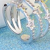 LOVFASH S925 Sterling Silver Crystal/Rhinestone