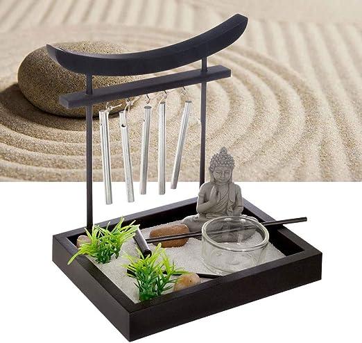 Atmosphera – Jardín Zen con cascabeles 15 x 12 cm, Negro , L. 15 x l. 12 x H.16,5 cm: Amazon.es: Hogar
