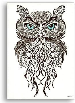 Falso tatuaje temporal Transferencia de agua Pájaro negro Ojos ...