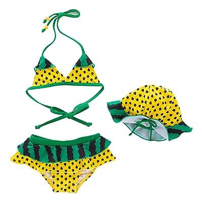 ARAUS Swimwear Baby Girl Swimsuit Bikini Set Beachwear Bathing Suit 3 Pieces