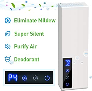 Air Purifier Deodorizer Negative ion Double Function Digital Display with 4 Modes Adjustment Cyclic Operation,Air Cleaner Ozone Remove Oil Smoke, Odor for Bathroom, Bedroom Kitchen, Closets