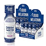 Dream Water Natural Sleep Aid, GABA, MELATONIN, 5-HTP, 2.5oz Shot, Snoozeberry, 24 Count