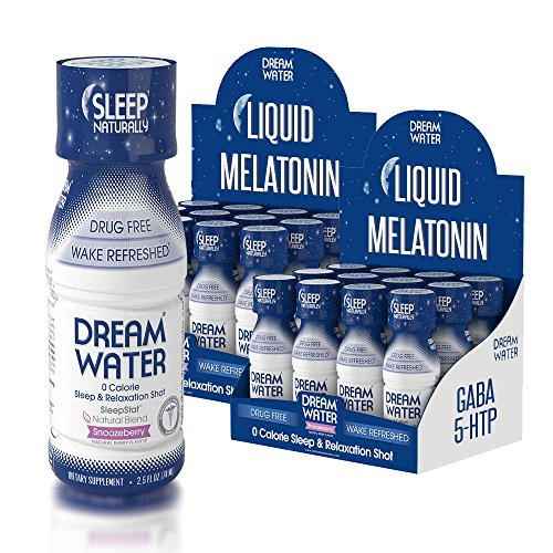 61ro8WOOs8L - Dream Water Natural Sleep Aid, GABA, MELATONIN, 5-HTP, 2.5oz Shot, Snoozeberry