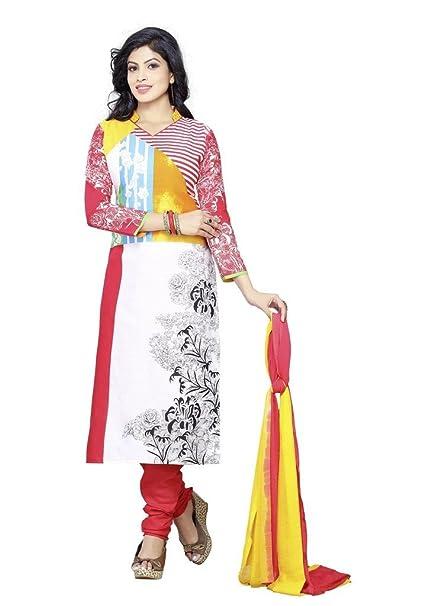 Amazon.com: Minu trajes de la mujer algodón unstiched ...
