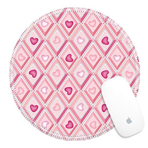 Luxlady Round Gaming Mousepad 17238153 baby seamless vector pattern with lilac and pink - Price Fantail