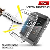 KTcos For Fitbit Ionic Case, TPU Screen Protector All-around Protective Case High Defination Clear Ultra-Thin Cover for Fitbit Ionic Smart Fitness Watch (Clear)