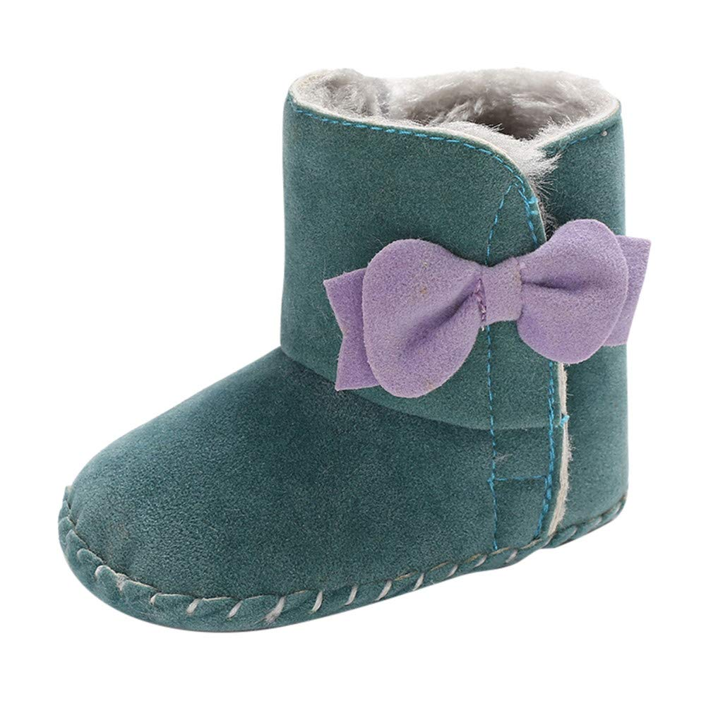 Lurryly❤Girls Soft Sole Bow Warm First Walkers Shoes Prewalker Snow Boots Infant//Toddler