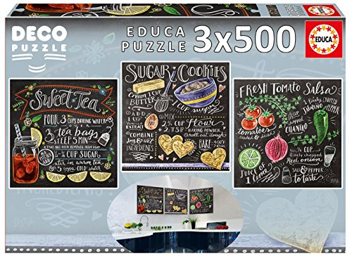 Educa Children's 3 x 500 Lily & Val Deco Puzzle