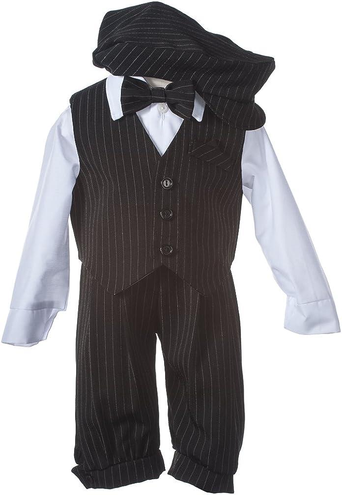 Boys Black Pinstripe Knicker Set with Vest in Baby, Toddler & Boys Sizes