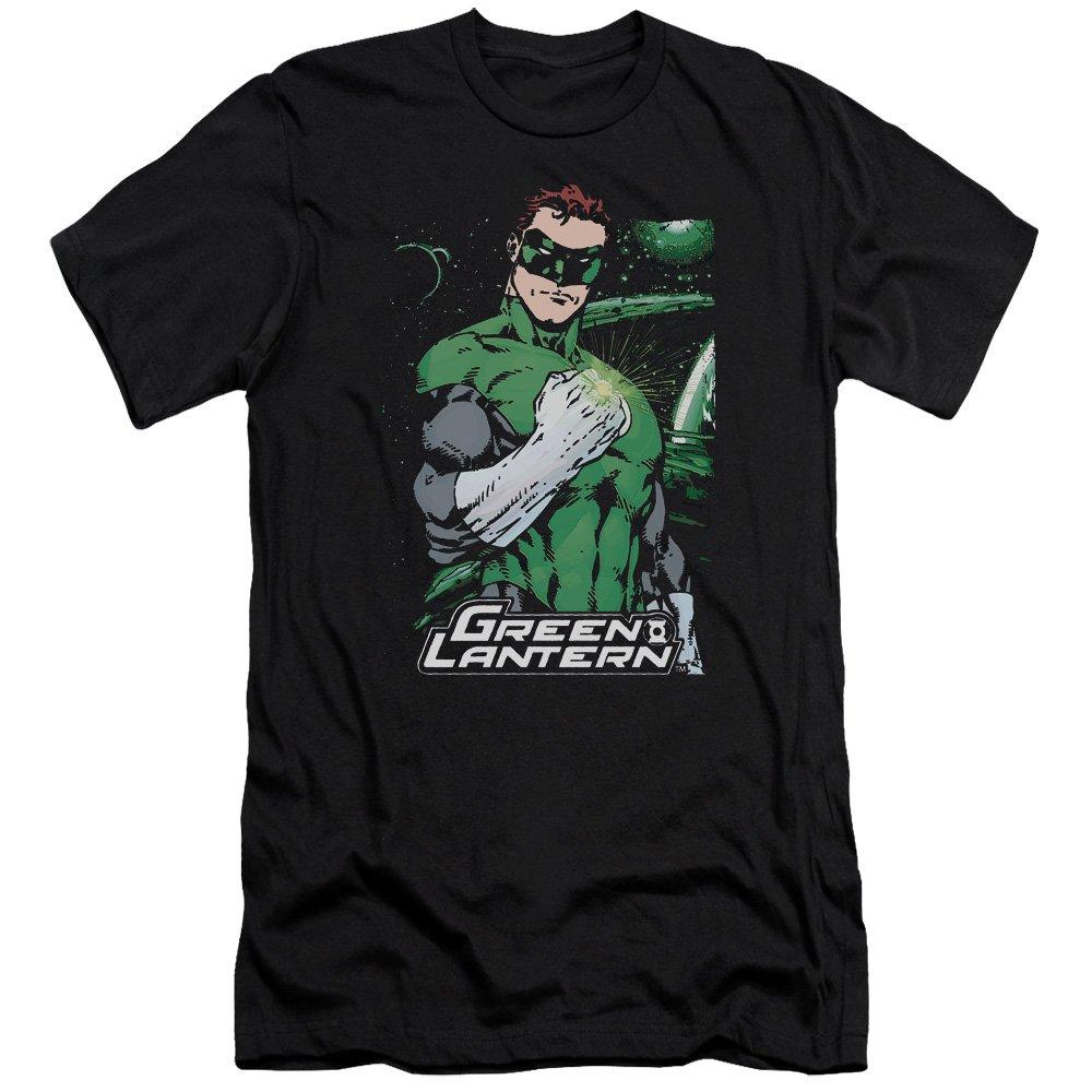 Jla Fist Flare Premium Adult Slim Fit T-Shirt