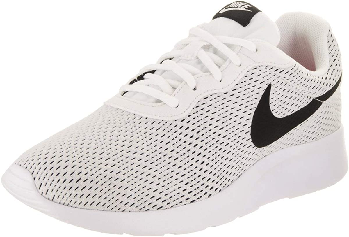 Nike Mens Flex Fury 2 Fitsole Lightweight Running Shoes, White Black, Size