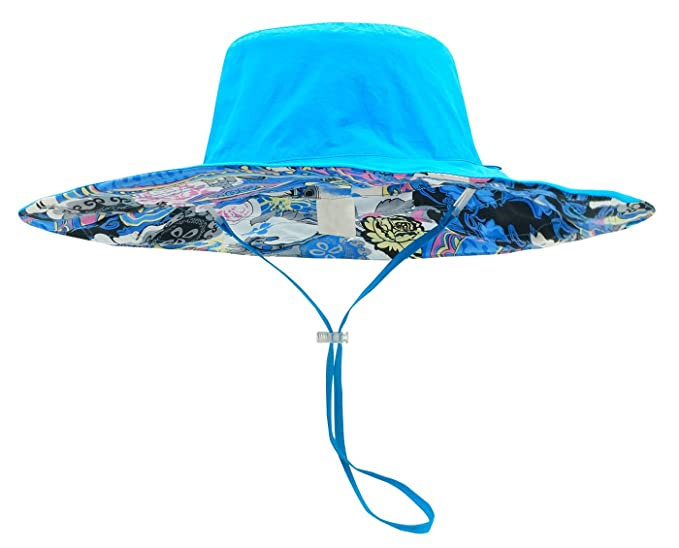 a9334fad8eb AIEOE Women s Anti-UV Sun Hats Foldable Floppy Reversible Travel Summer  Beach Outdoor Fishing Hunting