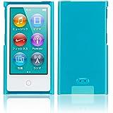 Simplism iPod nano (7th) ハードカバー 傷防止UVコーティング 液晶保護フィルム付属 抗菌仕様 ブルー TR-CCNN12-BL