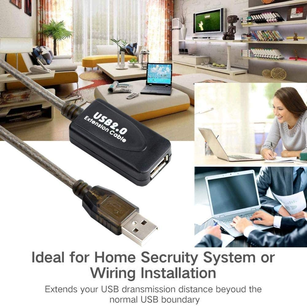 10M//32 Ft A Male to A Female Signal Amplification High-Speed 480 Mbps Extension Cable with Enhanced Chip XHGW USB 2.0 Extension Cable