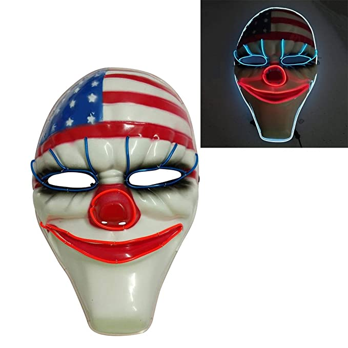 <b>Amazon</b>.com: baoshihua Halloween Creepy Mask Dallas Heist Mask ...