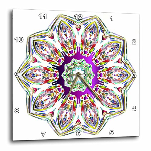 Mandala - Colorful Mandala Buddha Symbol  Wall Clock