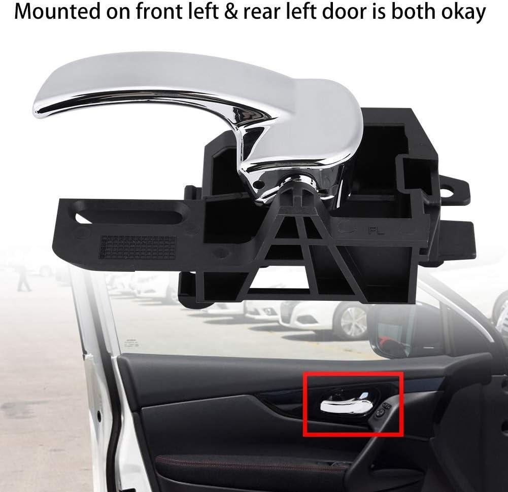 Dibiao Reemplazo del interior del interior del auto interior izquierdo o de la manija de la puerta delantera para Nissan Qashqai MK1 2007-2013 80671JD00E