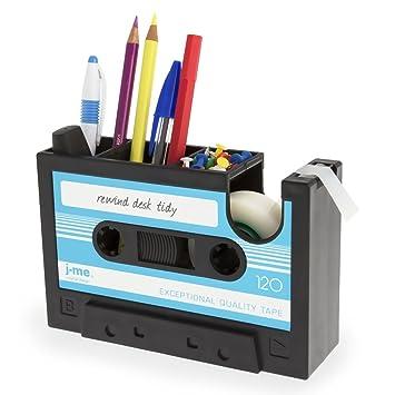 SODIAL Dispensador de Cinta de Cassette Boligrafo Florero Lapiz Maceta Papeleria Escritorio Ordenado Contenedor Oficina Papeleria Proveedor Regalo (azul): ...