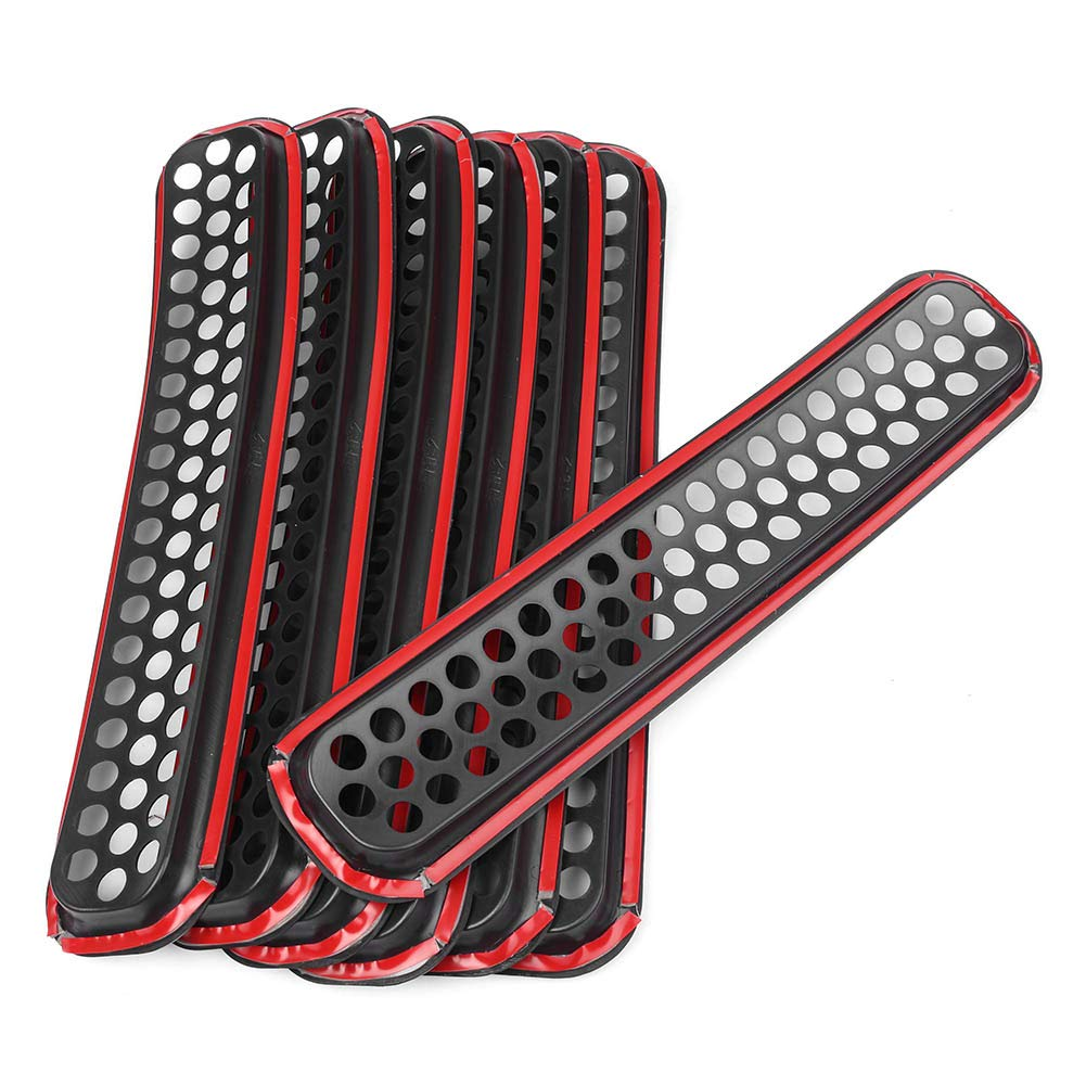 GZYF 7PCS Front Grill Grille Cover Insert Mesh Replacement Fits 97-06 Jeep Wrangler TJ