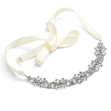mariell silver rhinestone bridal headband