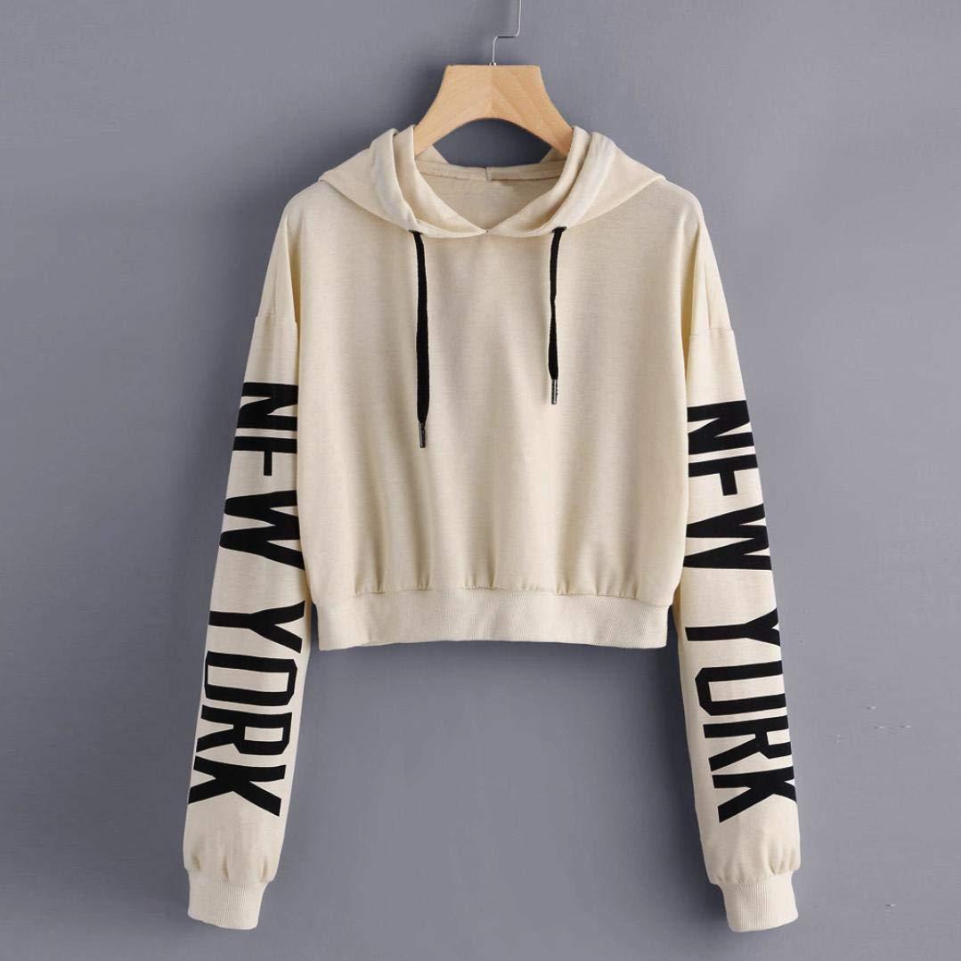 Clearance!Youngh New Women Print Letters Solid Sweatshirt Loose Long Sleeve Hoodie Sweatshirt Casual Fashion Sweatshirt Pullover: Amazon.com: Grocery ...