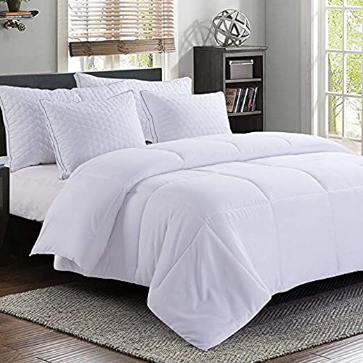 Down Alternative Comforter Duvet Insert White Oversized Soft Fiberfill Quilted