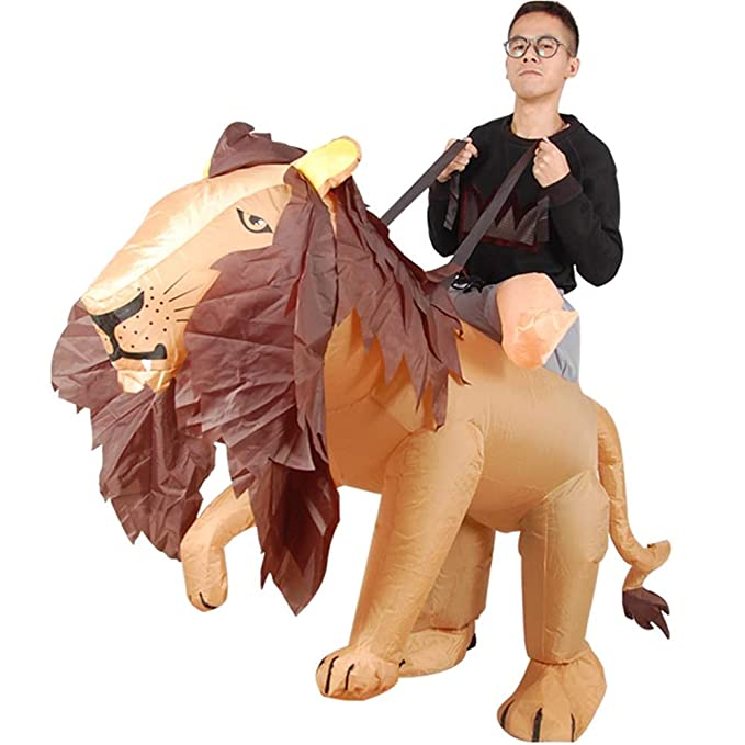 Amazon.com: Lion King - Traje hinchable para adulto, diseño ...