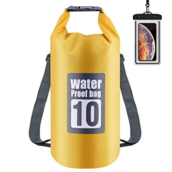 Osaloe Bolsas Estancas 10L/20L Bolsa Seco Impermeable con Caja de Teléfono Impermeable Dry Bag 2 en 1 Bolsas Impermeables Camping Bolsa Seca para ...