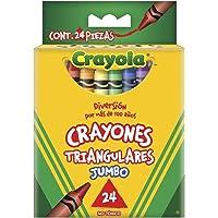 CRAYOLA 524324M004 24 Crayones Triangulares Jumbo