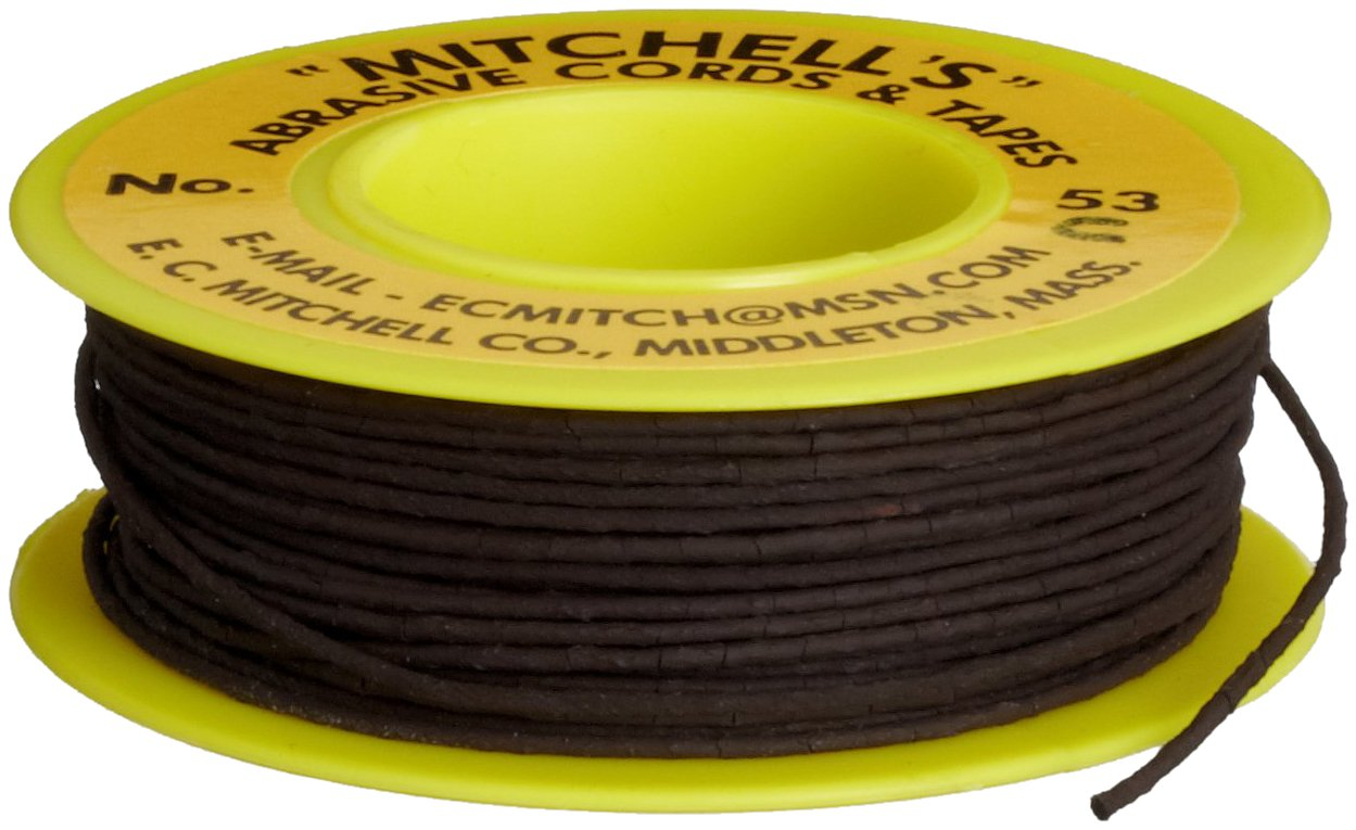 Mitchell Abrasives 53-C Round Crocus Polishing Cord, .040'' Diameter x 25 Feet