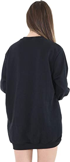 Highland Fashion kobiety koncert Baggy One Love Manchester Print Promi Sweatshirt Top: Odzież