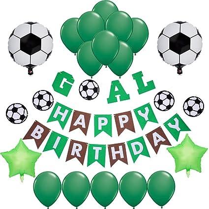 Amazon.com: Decoración de fiesta de fútbol temática para ...