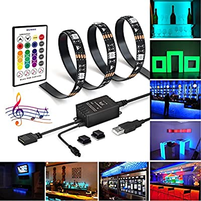Bias lighting for hdtv WENICE usb led backlight strip multi color rgb with 44key remote control for flat screen tv