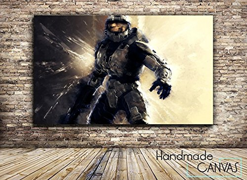Halo-Gaming-Box-Framed-Canvas-Art-Print