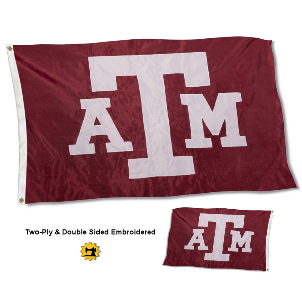 College Flags and Banners Co Texas A/&M Aggies Double Sided Nylon Embroidered Flag