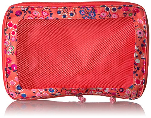 Packing Expandable Cube Polyester Medium Coral Vera Bradley Meadow 6ZxRw8P8