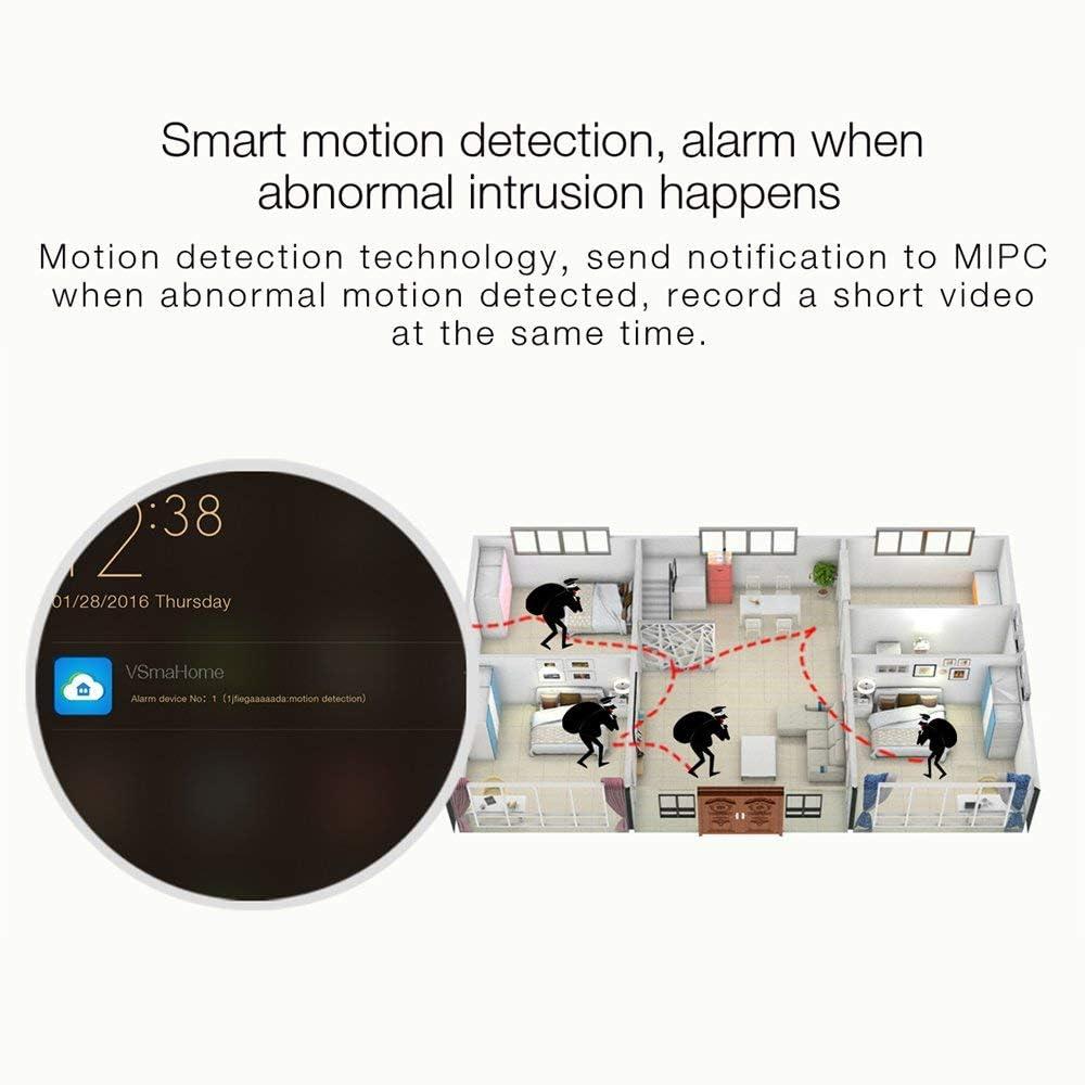 d/étecteur de mouvement int/érieur sans fil IP vision nocturne 15/m Fredi Fisheye HD 960P WiFi Cam/éra de surveillance 360/° avec audio